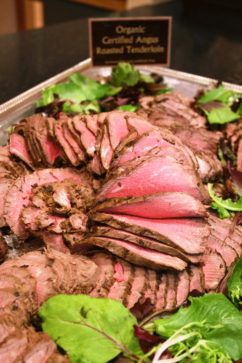 Organic roasted tenderloin